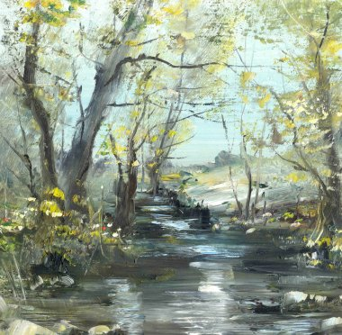 Creek, oil painting