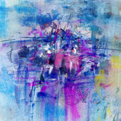 Abstract artistic background in blue and purple colors