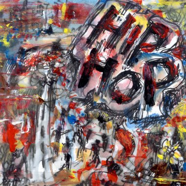 Hip hop abstract painting