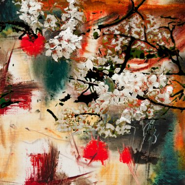 Spring motif abstract background