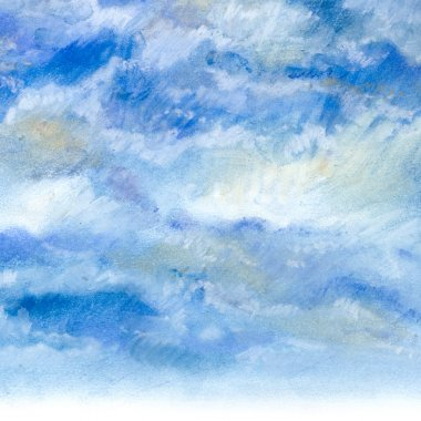 The sky with clouds