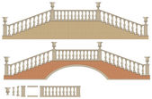 vektorové obousměrný žebřík a most