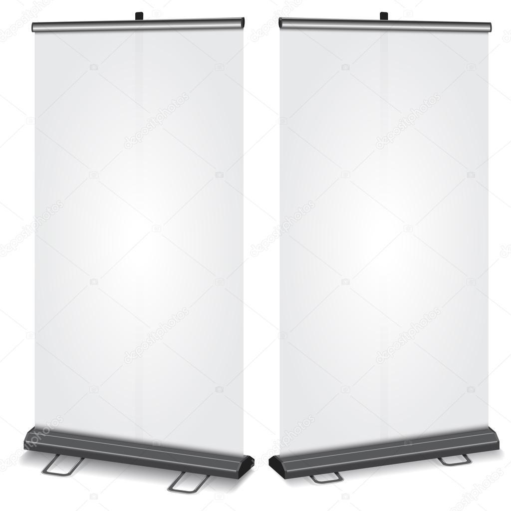 Blank Roll-up banner — Stock Vector © Roxiller #35325459