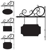 Fotografia segni di ferro battuto per il design vecchio stile