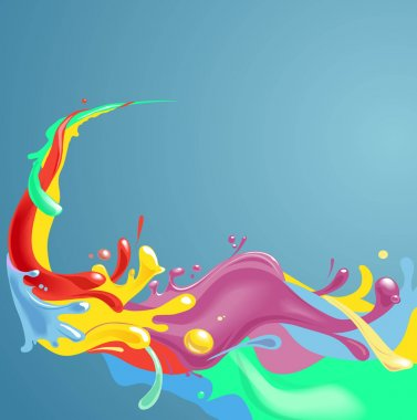 A splash of various colors - Background design for your text.