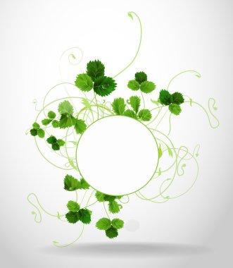 Floral frame. Vector illustration