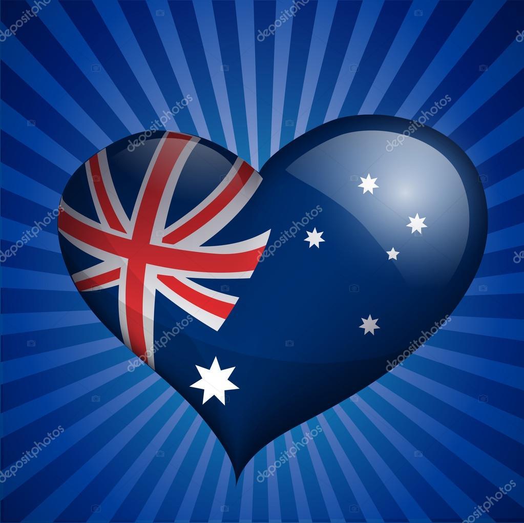 australia flag in heart shape u2014 stock vector medvedka 28284269