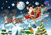 lillustrazione di Natale - Babbo Natale-