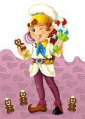 Fotografia il nano Natale - illustrazione per bambini