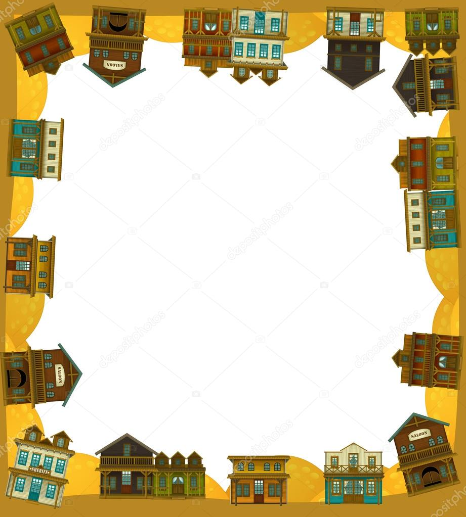 The wild west - western - Frame - border — Stock Photo © agaes8080 ...