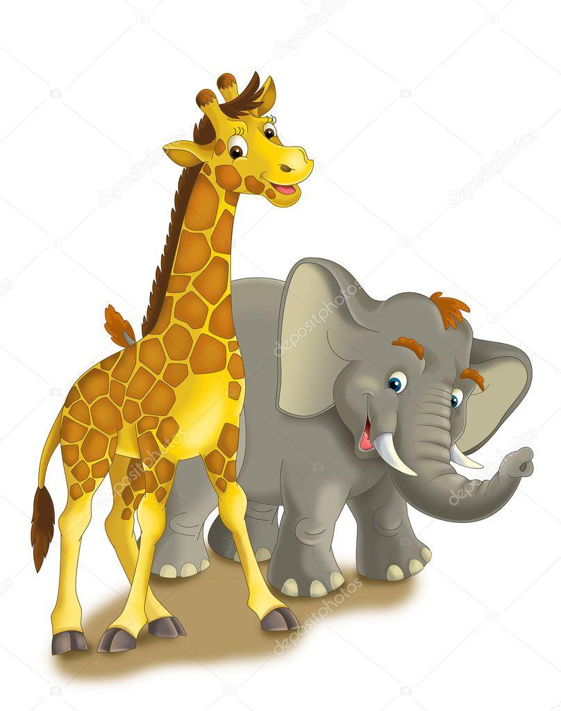 Cartoon Safari - Illustration für die Kinder — Stockfoto © agaes8080 ...