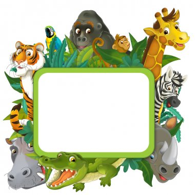 Cartoon safari- Frame - border