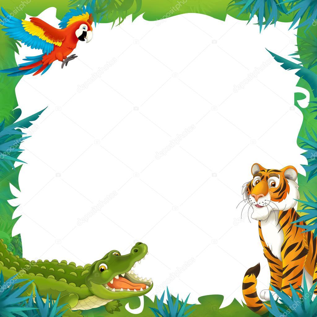 Cartoon safari-frame - grens — Stockfoto © agaes8080 #28328829