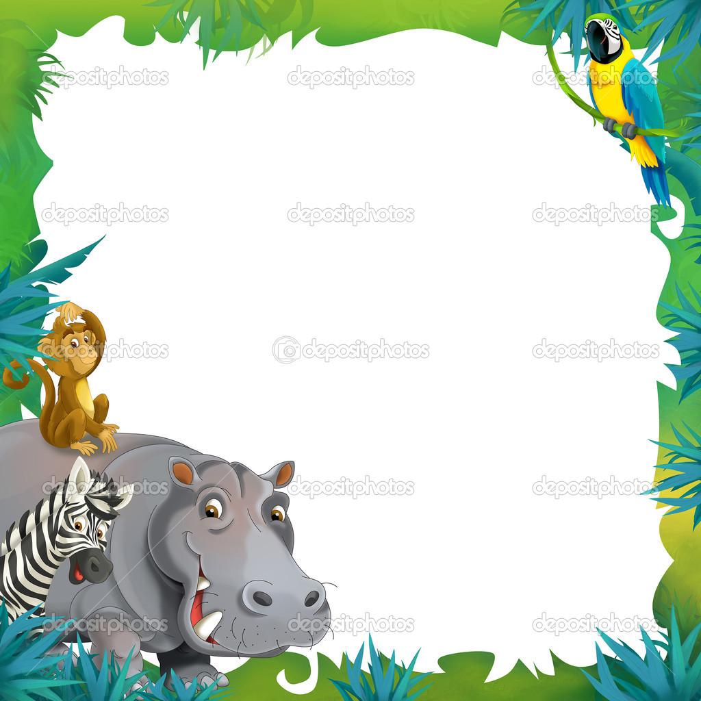 Cartoon Safari Frame Border Stock Photo 169 Agaes8080