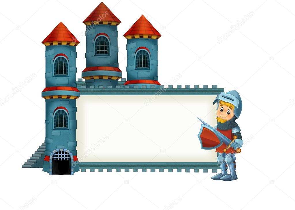 La ilustraci n medieval de dibujos animados de un - Castillos para ninos de infantil ...