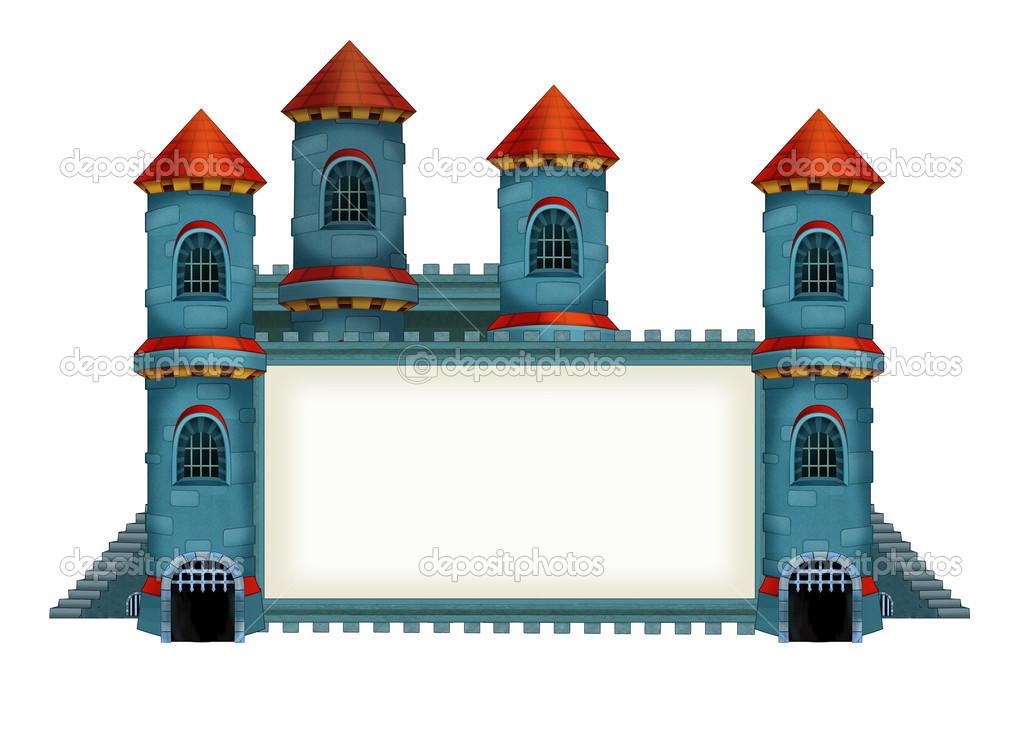 la ilustración de dibujos animados medieval del castillo - para los ...