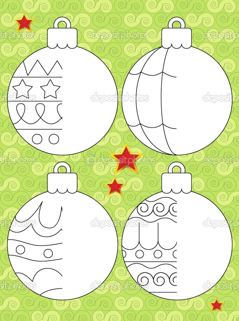 Weihnachten-Übung - Aufgabe für die Kinder — Stockfoto © agaes8080 ...