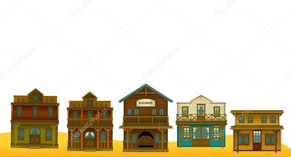 edificios de frontera occidental marco — Fotos de Stock © agaes8080 ...