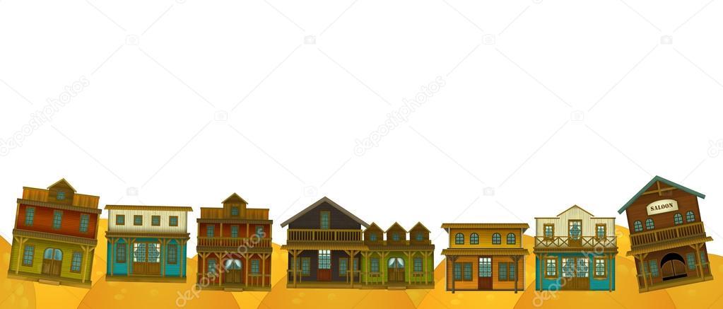 西部フレーム境界線建物 \u2014 ストック写真