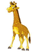 Fotografia giraffa fumetto - illustrazione per bambini