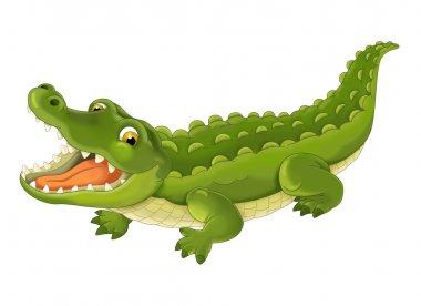 Cartoon alligator - illustration for the children