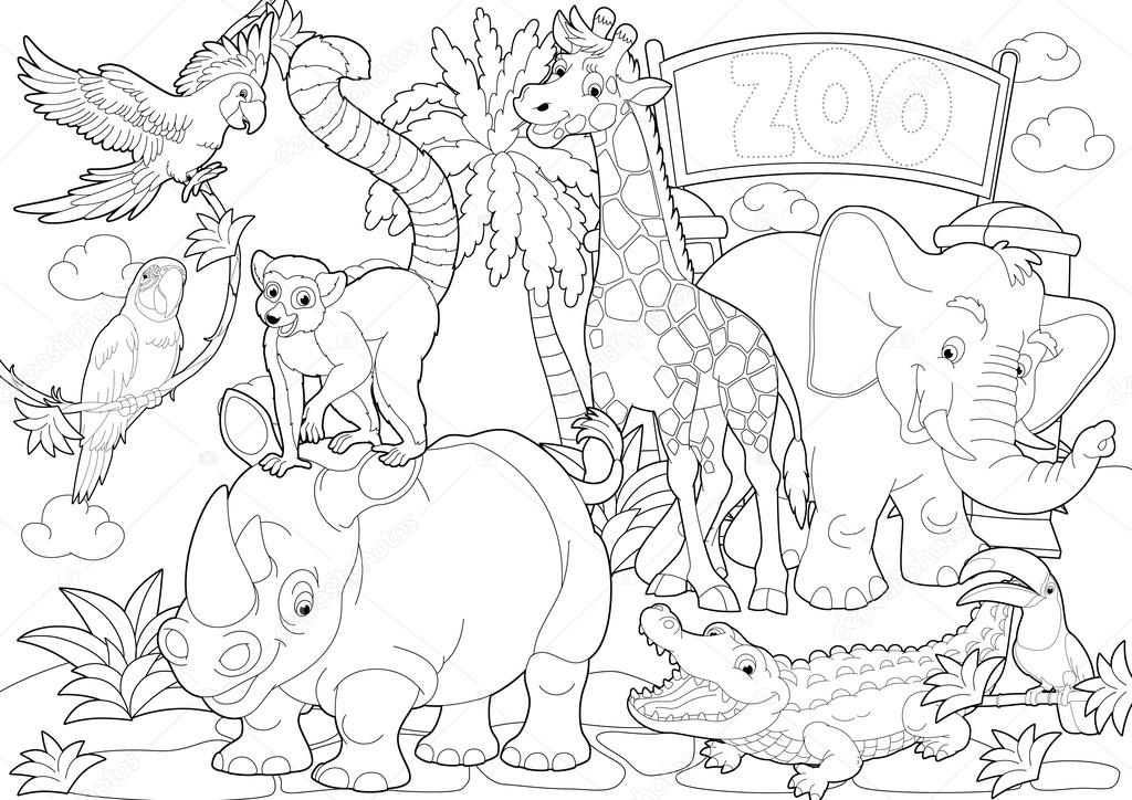 Zoo Coloring Pages  ColoringBookFuncom