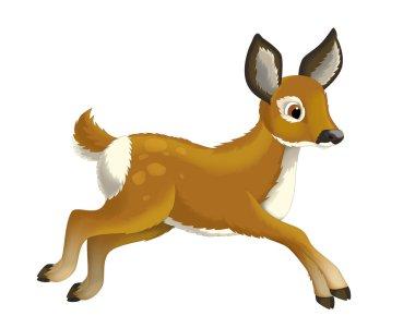 Cartoon animal deer - illustration for the children stock vector