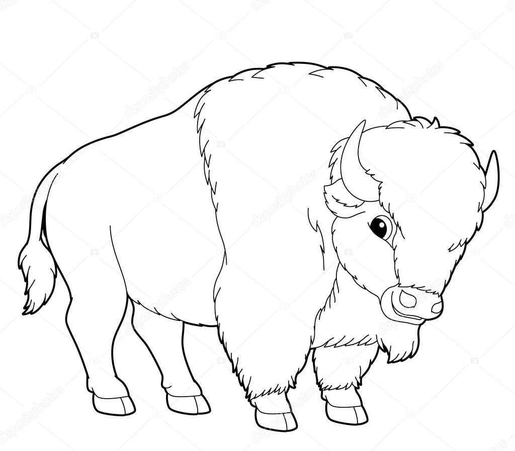 Búfalo. dibujos animados de animales — Foto de stock © agaes8080 ...