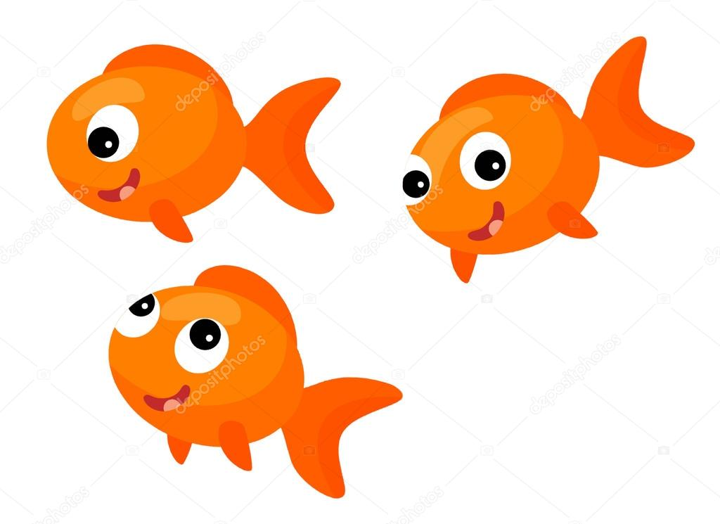 Image result for three goldfish cartoon