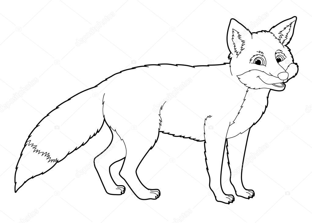 dibujos animados de animales - zorro salvaje — Fotos de Stock ...