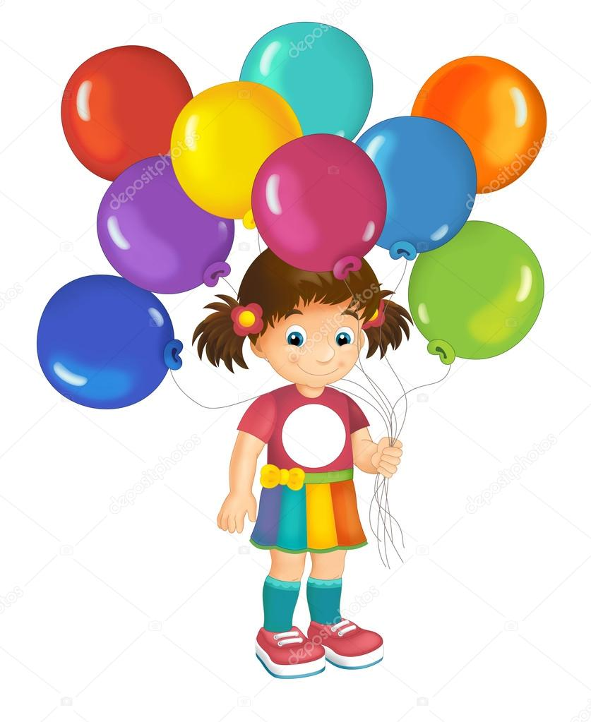 Bambino cartoon con palloncini foto stock agaes8080 - Immagine con palloncini ...