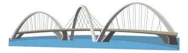 Cartoon bridge - illustration for the children stock vector