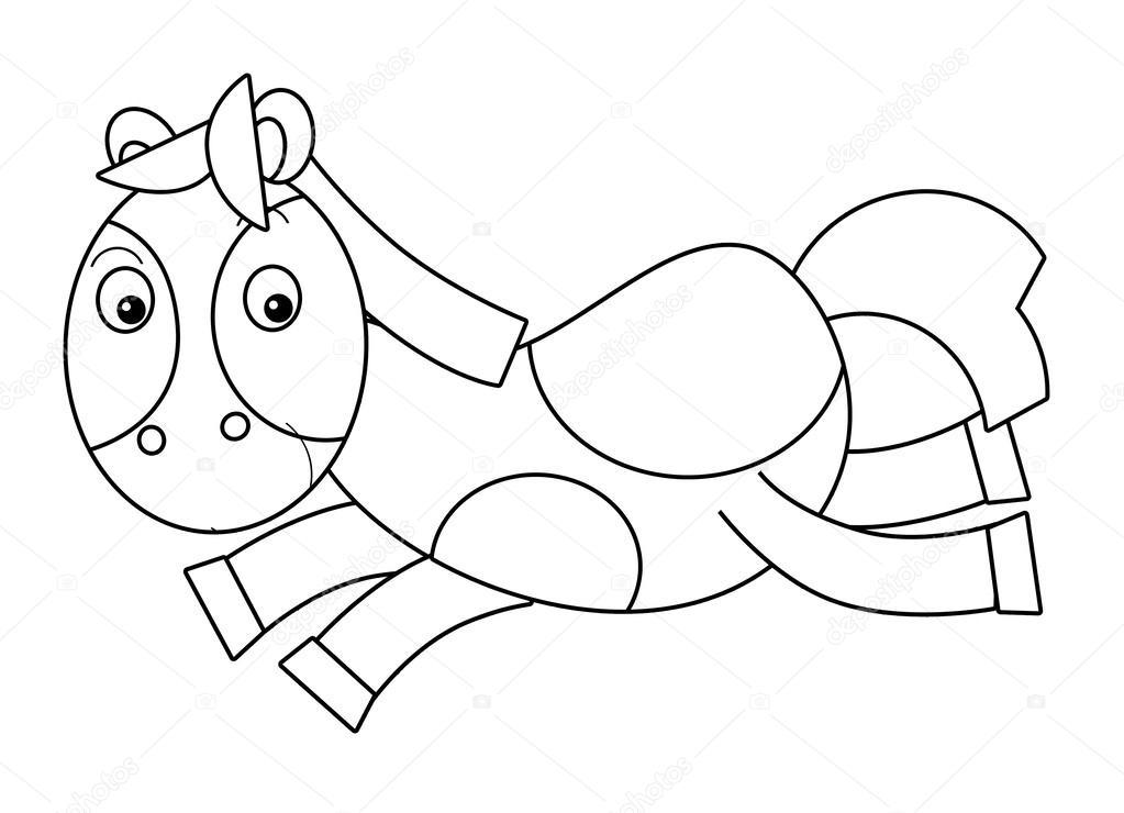 Cartoon-Pferd - Färbung Seite — Stockfoto © agaes8080 #51332817