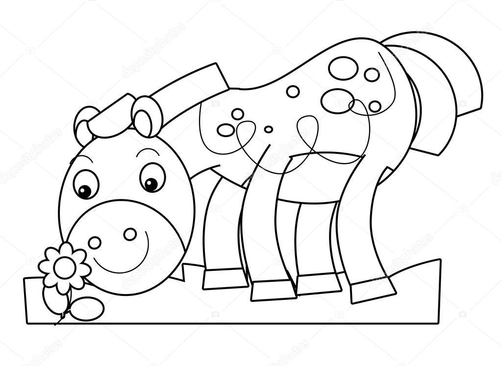 Cartoon-Pferd - Färbung Seite — Stockfoto © agaes8080 #51332825