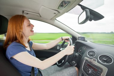 Careless driver listening to music
