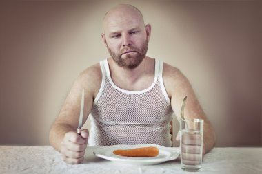 Dissatisfied Man on Diet