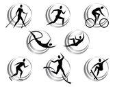 Fotografie ikony letních sportů