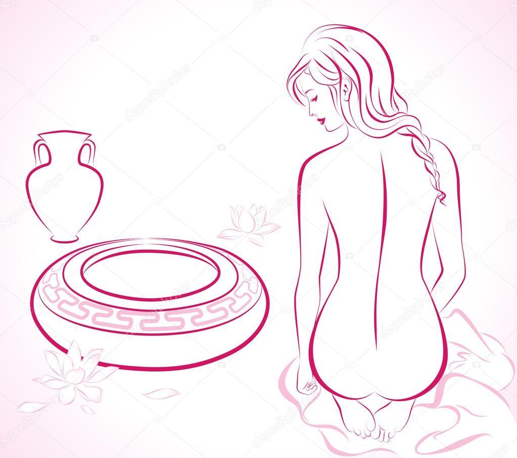 Векторные девушки голые весьма