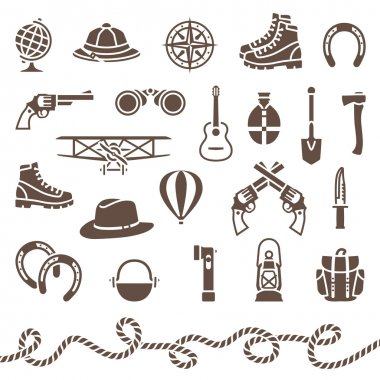 Classical outdoor equipment for adventure