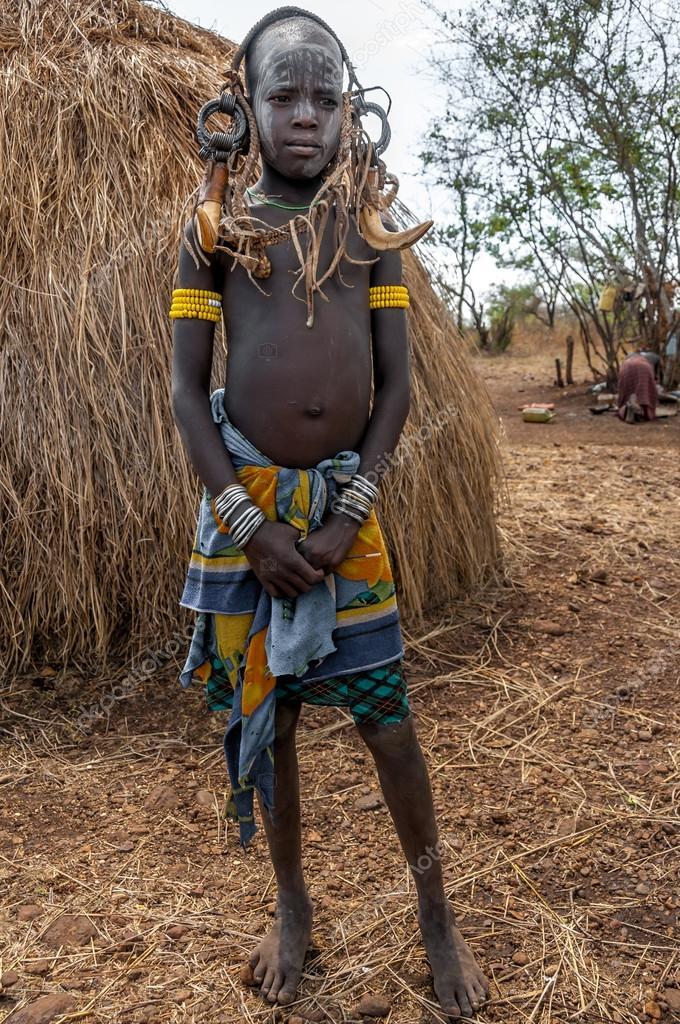 Populares pessoas de vale do Omo - tribo mursi — Fotografia de Stock  CC92