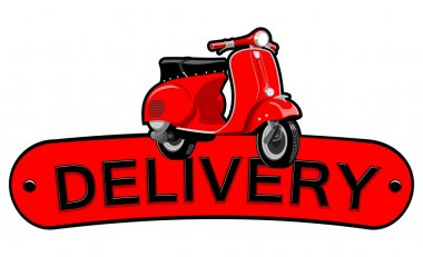 Scooter delivery illustration