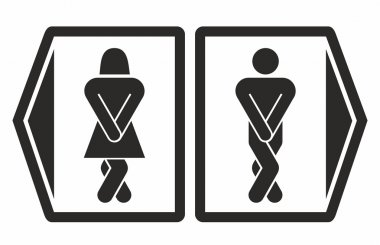 Man and women toilet icons