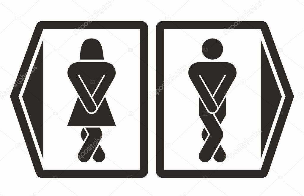 Man and women toilet icons