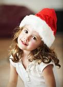 Fényképek Szép kislány santa kalap