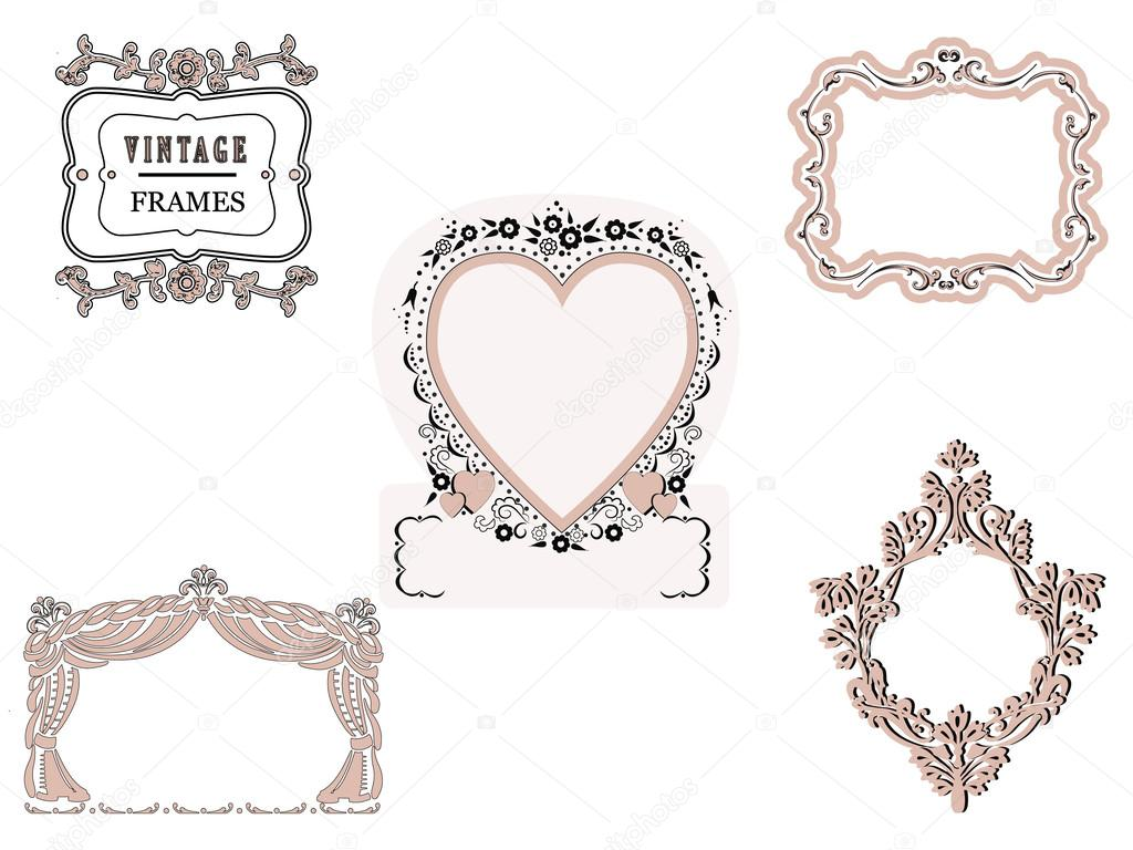 Cornici Per Foto Romantiche.Cornici Romantiche Vettoriali Stock C Ana011 33586081