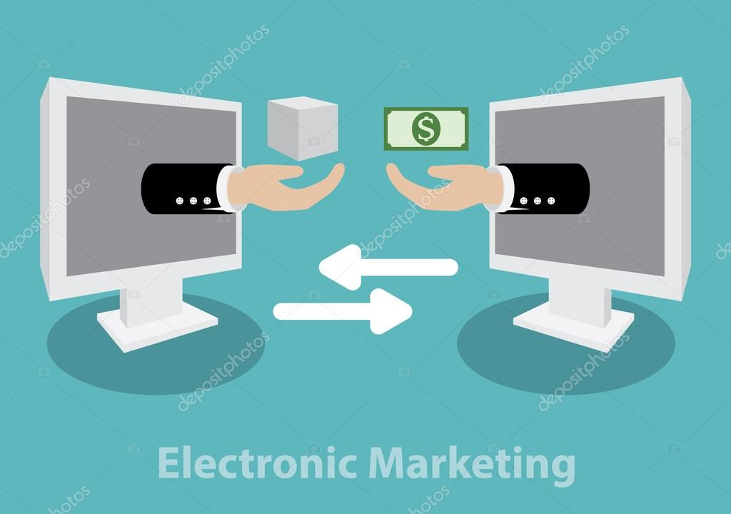 electronic marketing Electronic commerce or ecommerce is a term for any type of business, or commercial transaction, that involves the transfer of information across the internet it covers a range of different types of businesses, from consumer based retail sites, through auction or music sites, to business exchanges trading goods and services between corporations.