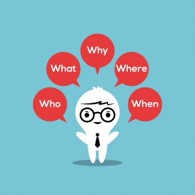 5w strategic : Who, What, Where, When, Why