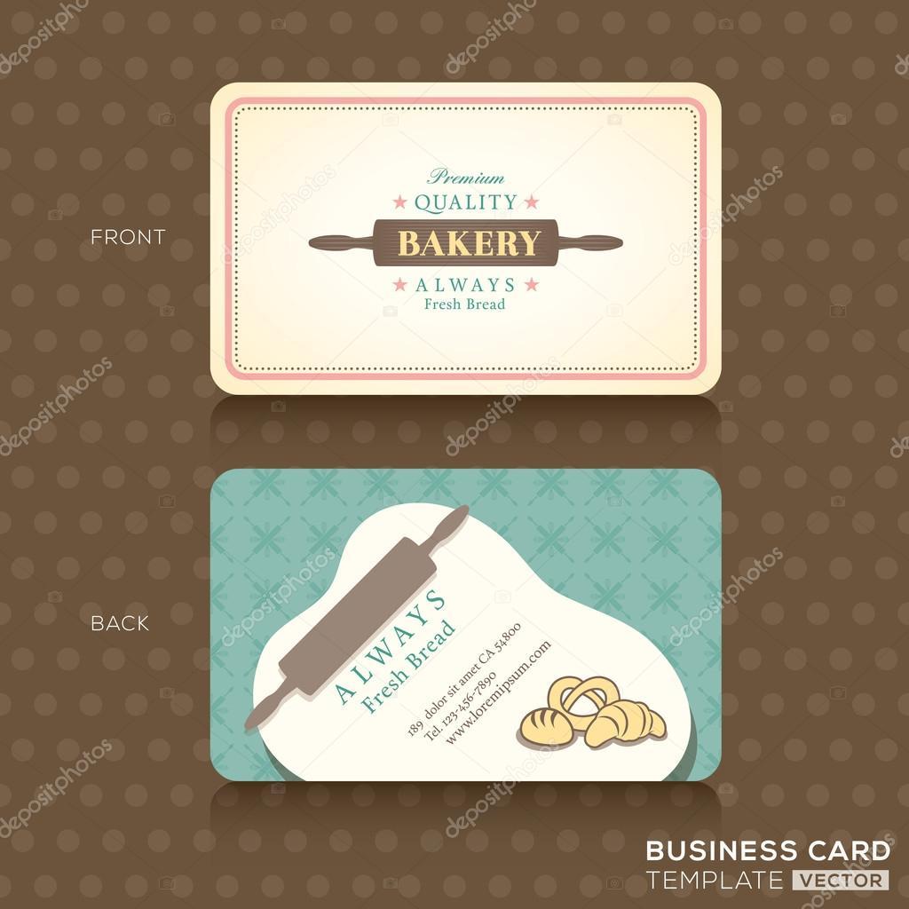 Boulangerie PA Tisserie Avec Modele De Conception Carte Visite Rouleau A Patisserie Vecteur Par