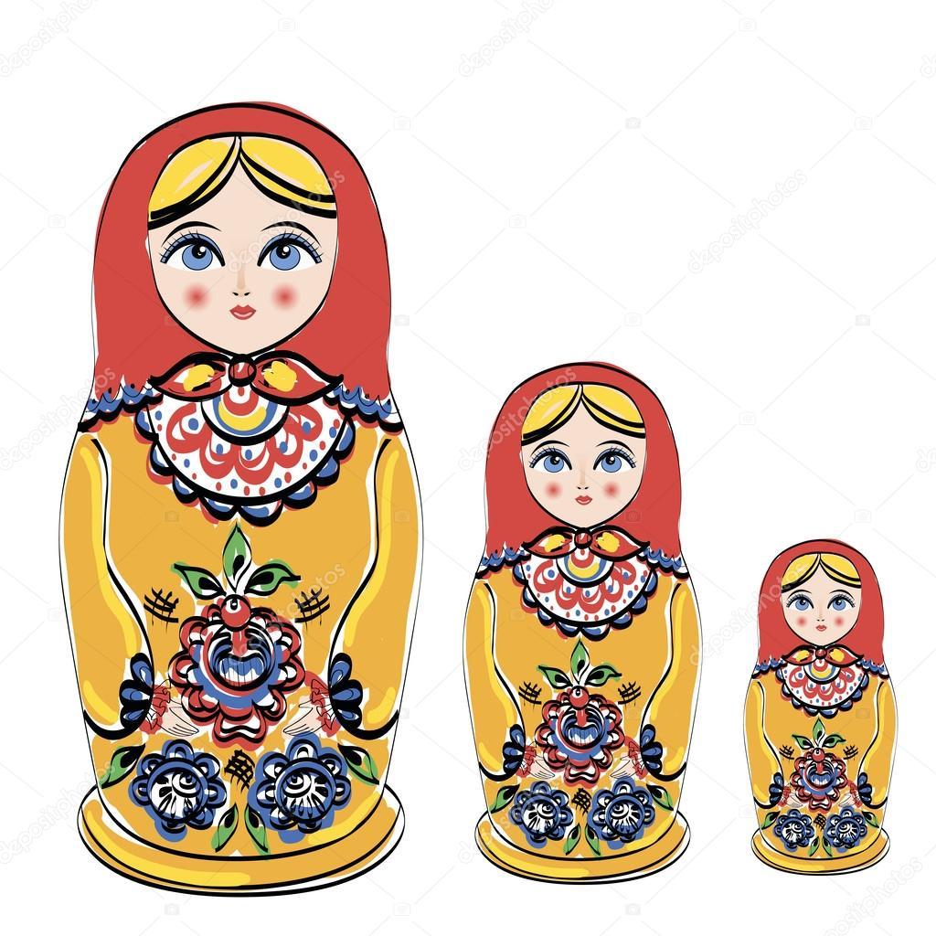 Russian tradition matryoshka dolls.