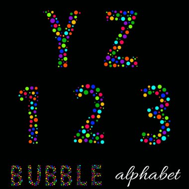 Joyful Cartoon font - letter from A to Z & numbers